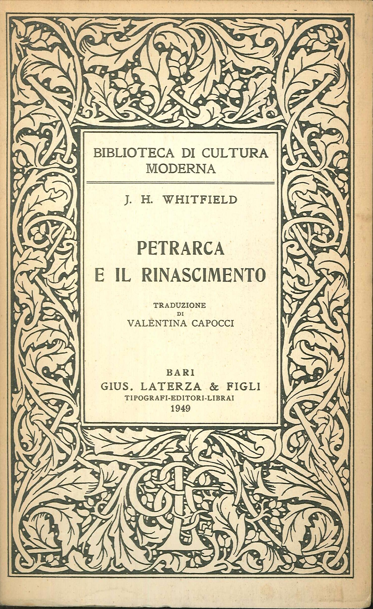 Petrarca e il Rinascimento
