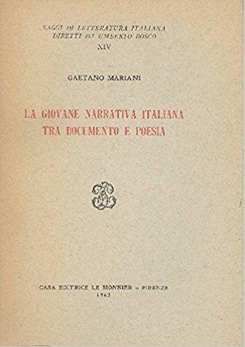 La giovane narrativa italiana tra documento e poesia