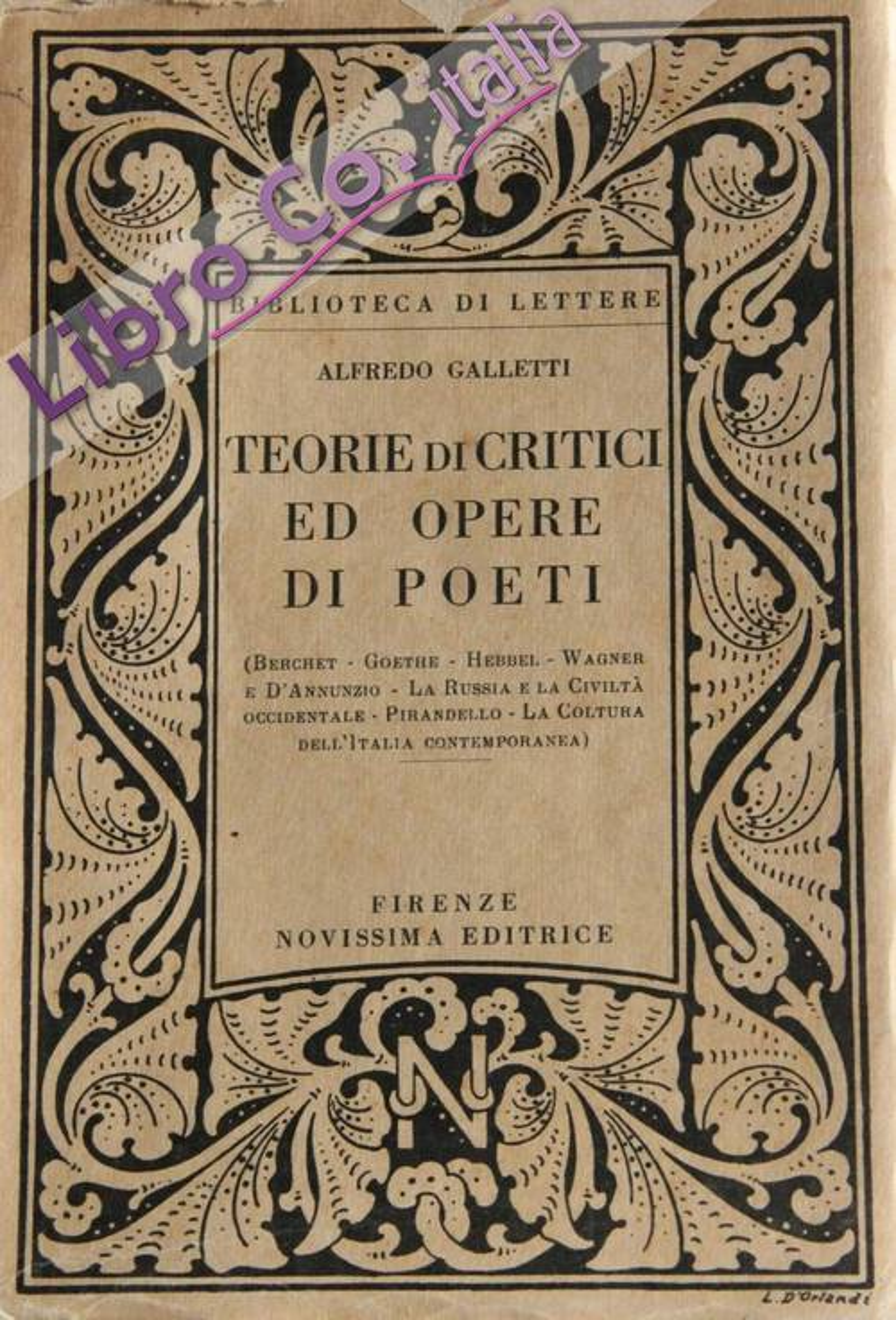 Teorie di critici ed opere di poeti