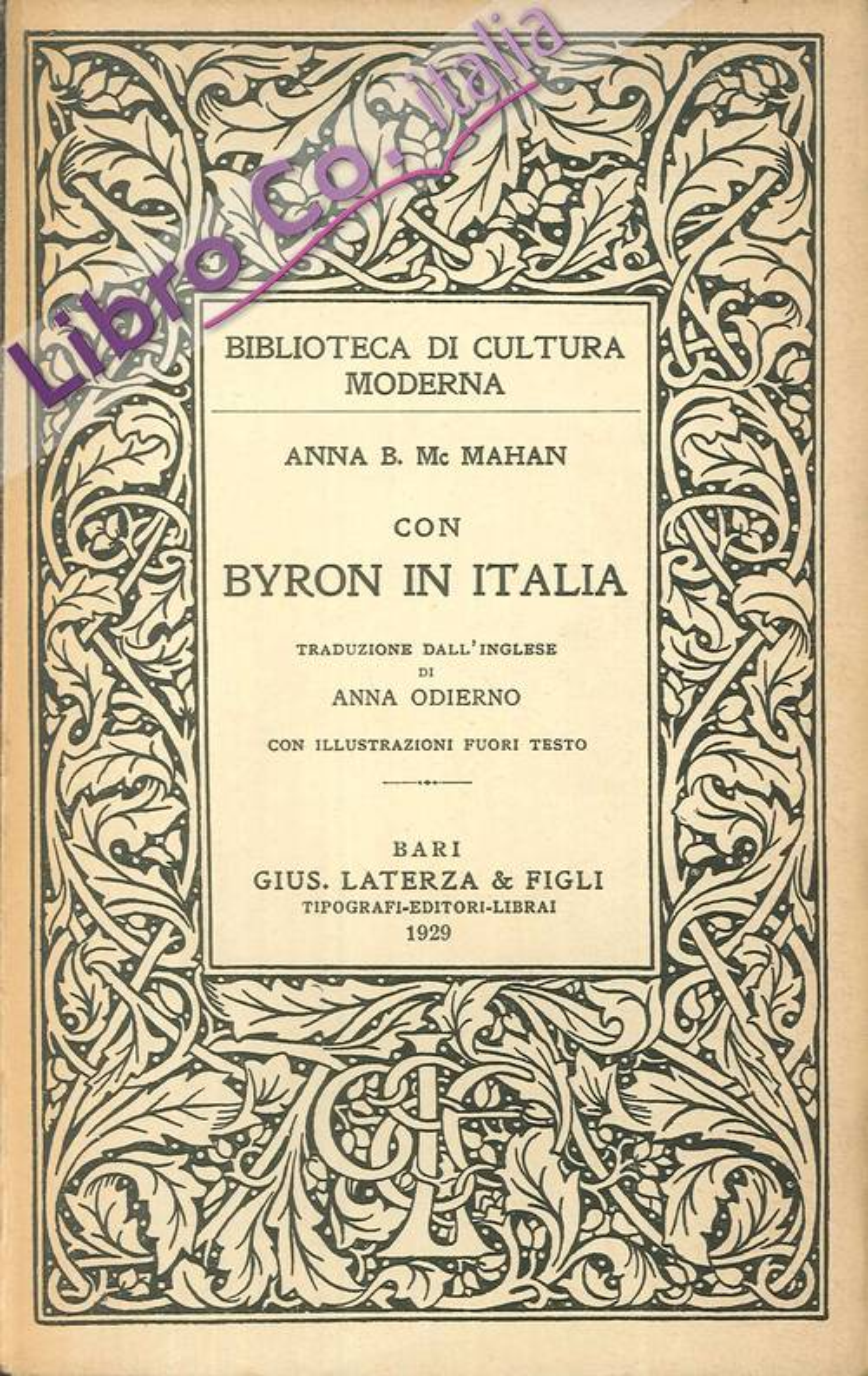 Con Byron in Italia