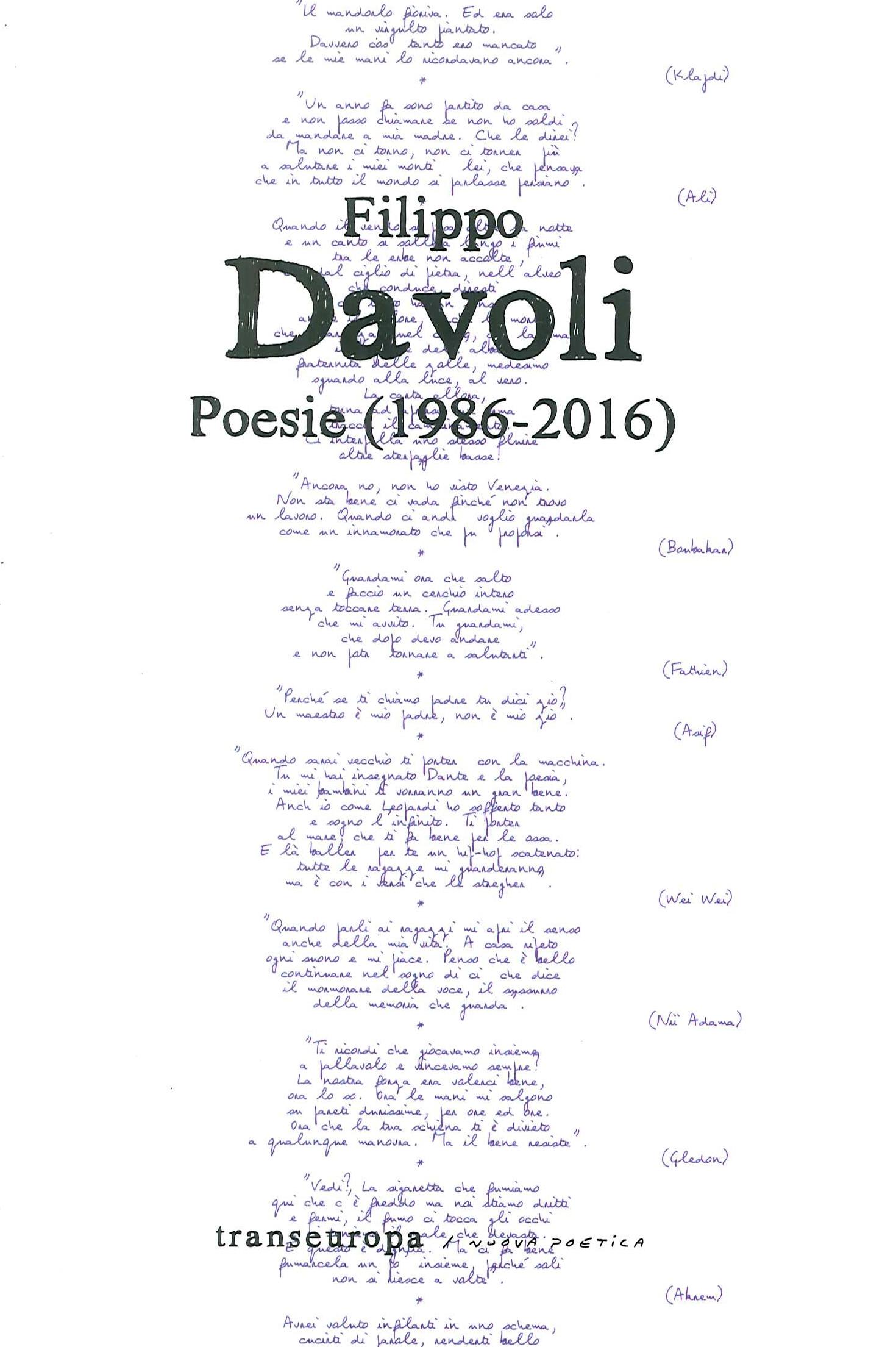 Filippo Davoli. Poesie (1986-2016)