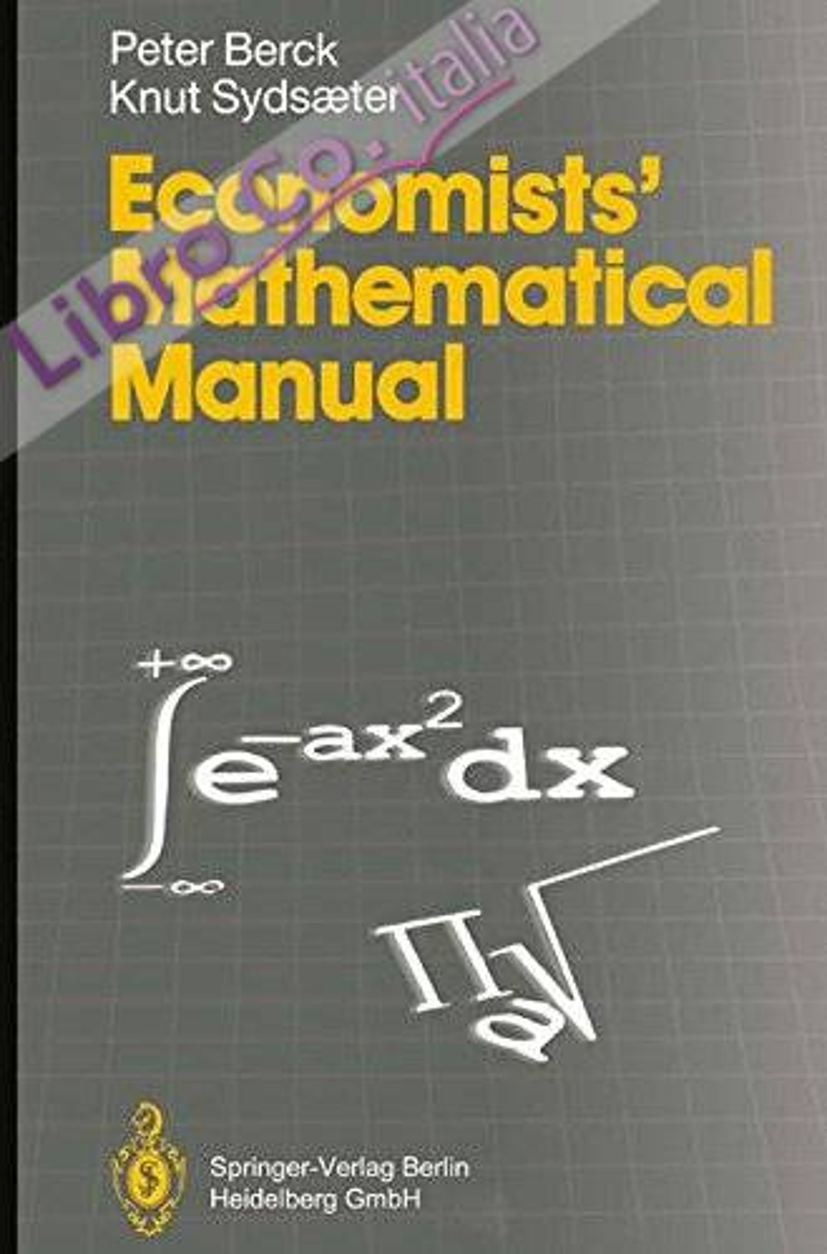 Economist's Mathematical Manual