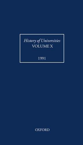 History of Universities: Volume X: 1991: 10