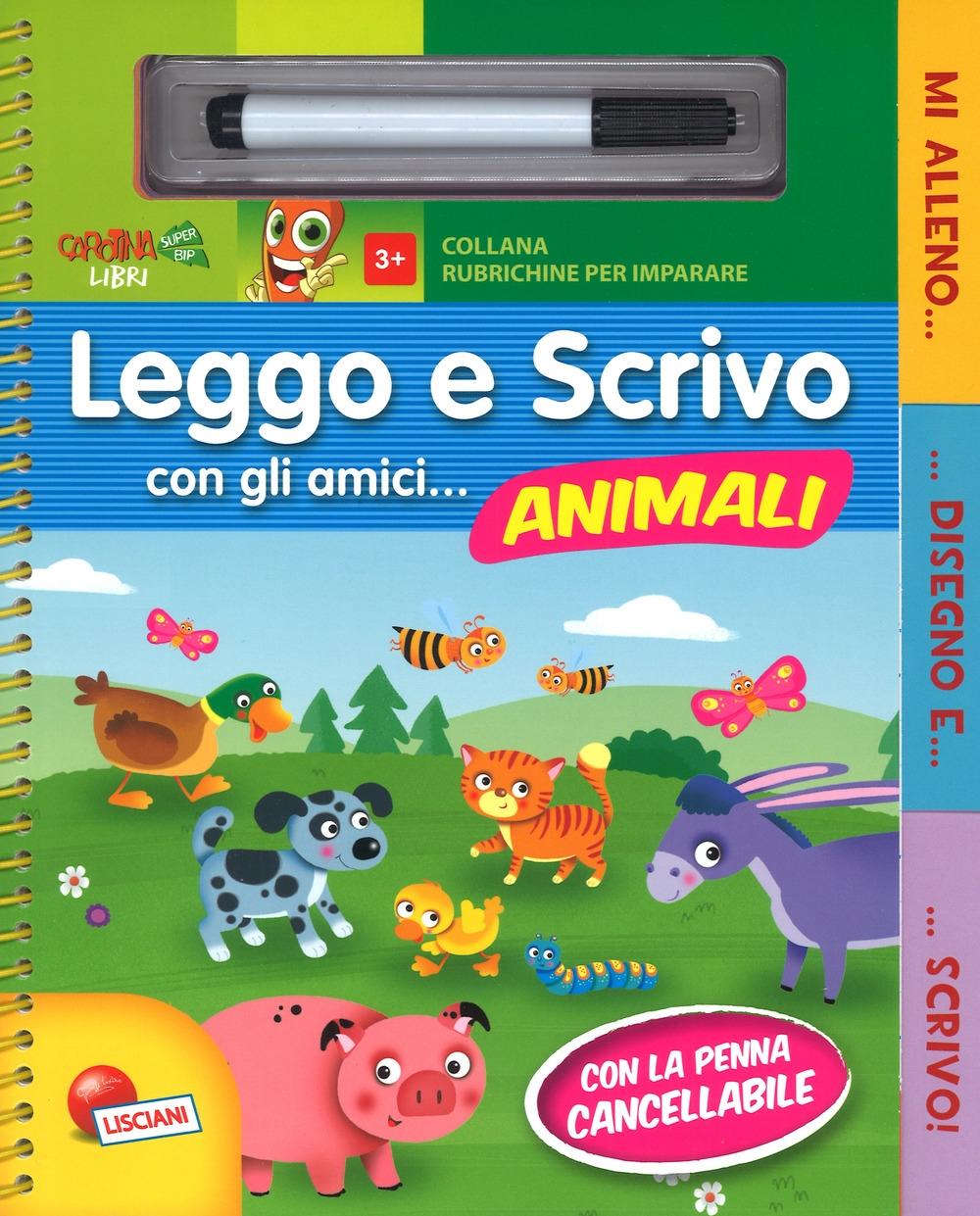 Leggo e scrivo con gli amici... animali. Ediz. a colori. Ediz. a spirale. Con gadget
