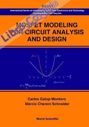 Mosfet Modeling For Circuit Analysis and Design