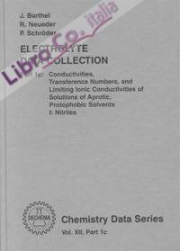 Electrolyte Data Collection Part 1c: Conductivities, Transference Numbers and Limiting Ionic Conductivities of Solutions of Aprotic, Protophobic Solvents I: Nitriles. Tables, Diagrams, Correlations, and Literature Survey