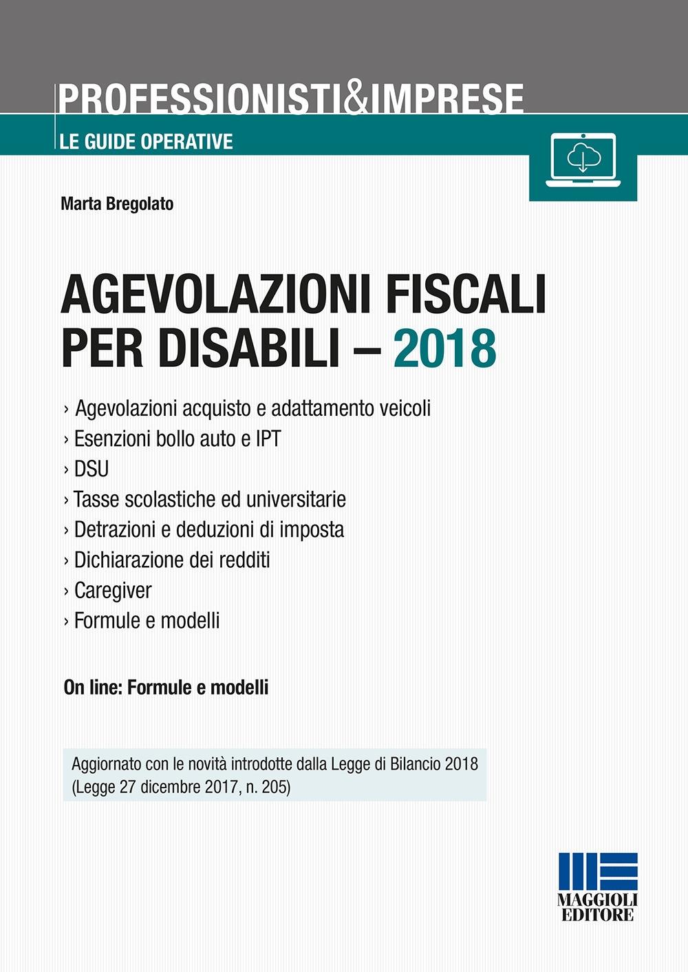 Agevolazioni fiscali per disabili - 2018