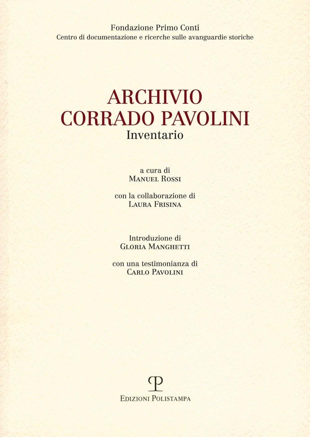 Archivio Corrado Pavolini. Inventario