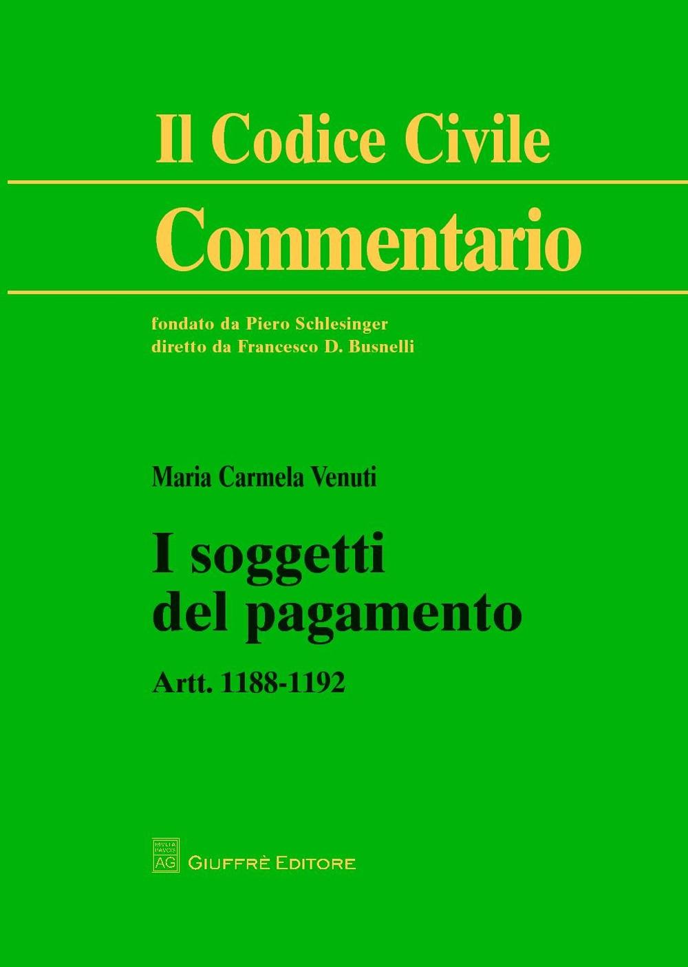 I soggetti del pagamento. Artt. 1188-1192
