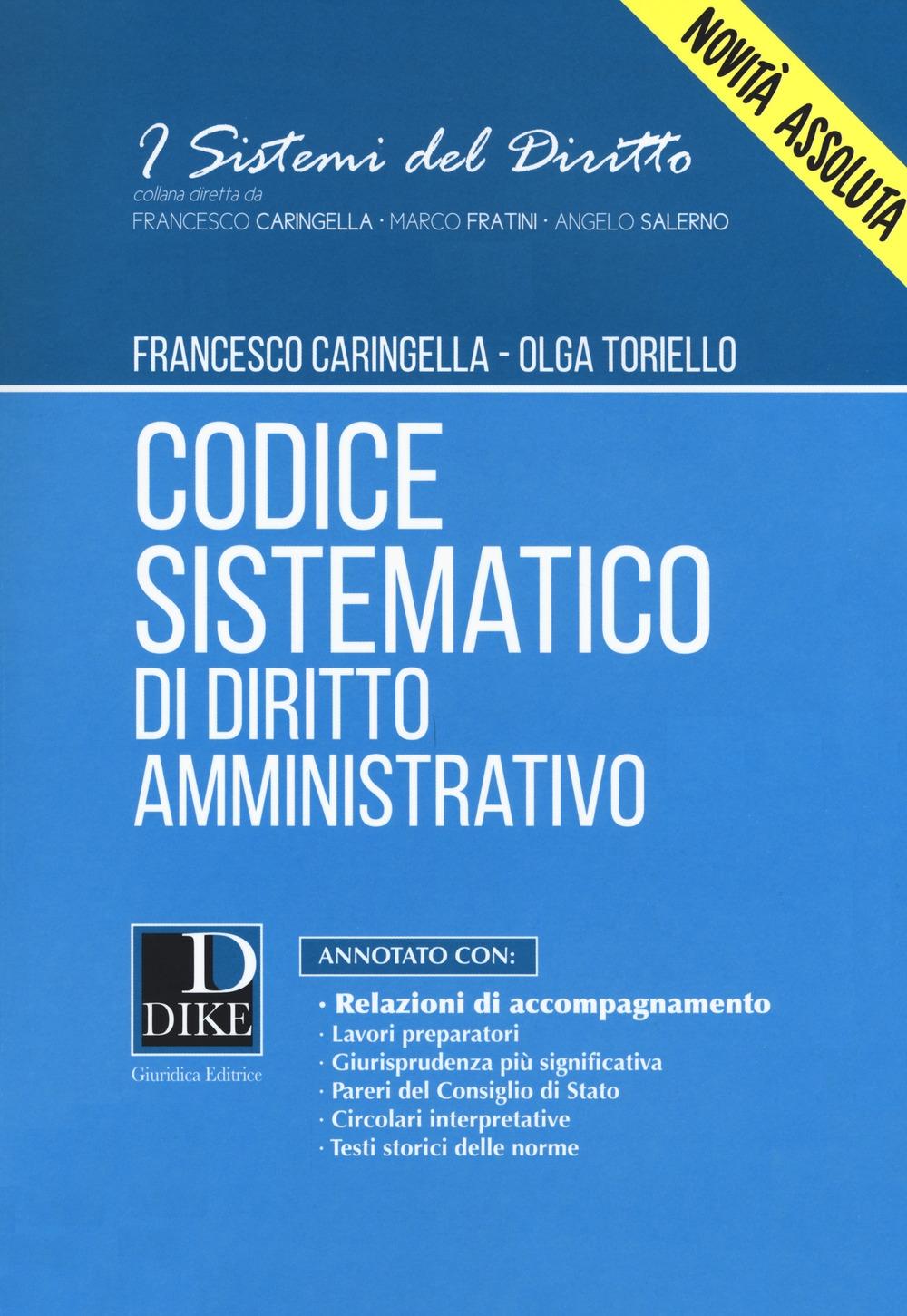 Codice sistematico di diritto amministrativo