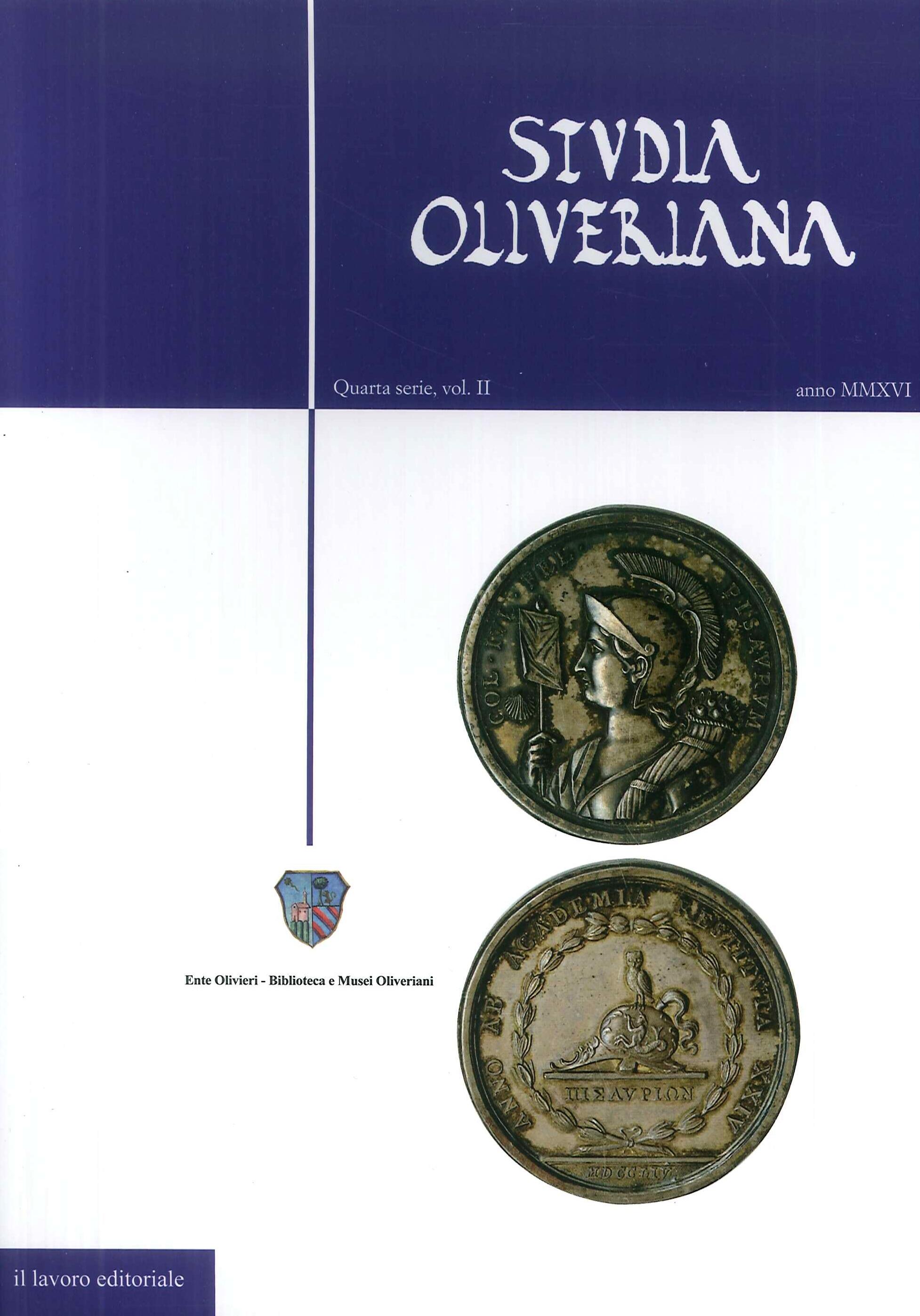 Studia Oliveriana. Quarta serie. Vol. 2 anno MMXVI