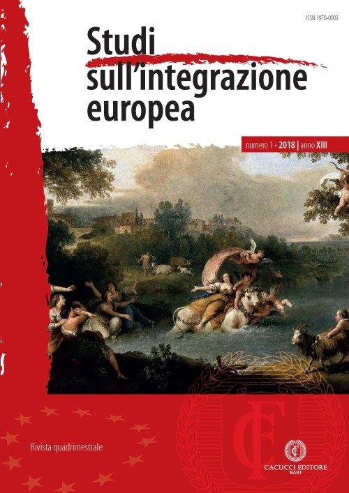 Studi sull'integrazione europea (2018). Vol. 1