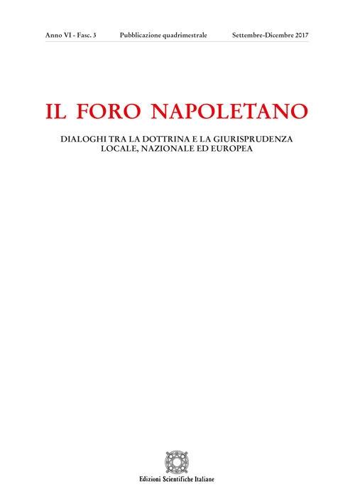 Il Foro napoletano (2017). Vol. 3