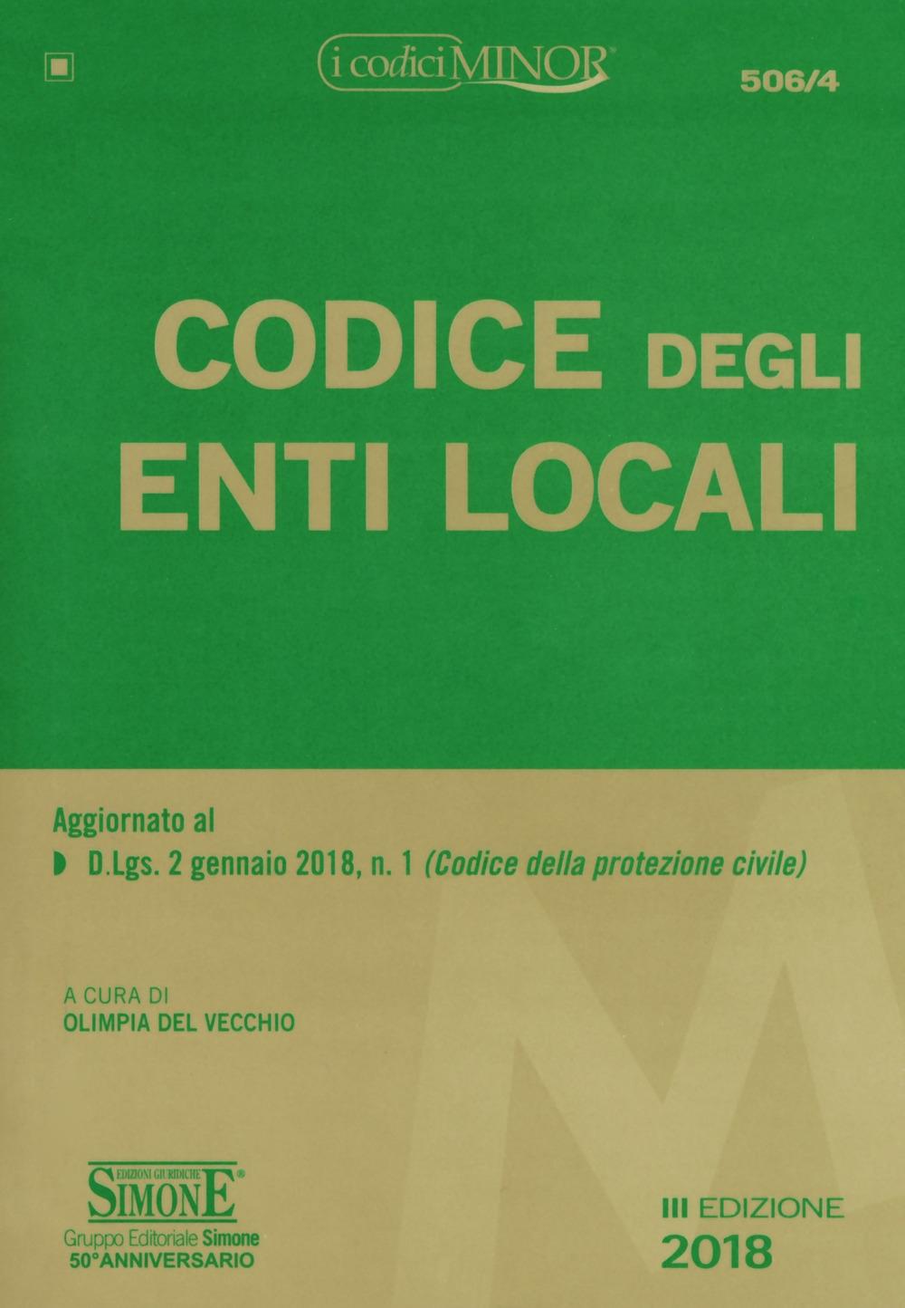 Codice degli enti locali. Ediz. minore