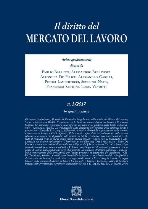 Il diritto del mercato del lavoro (2017). Vol. 3