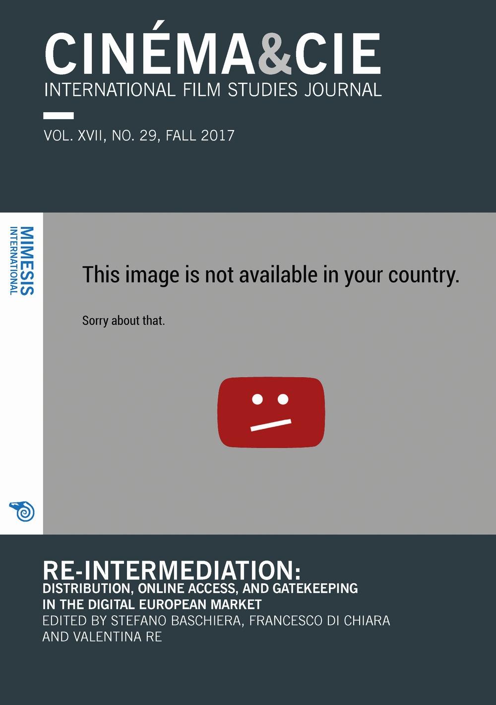 Cinema & Cie International Film Studies Journal VOL. XVII, N
