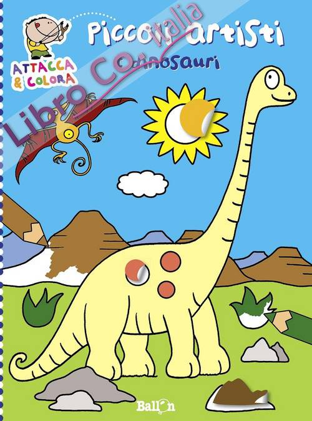 I dinosauri. Piccoli artisti. Album con stickers. Ediz. illustrata