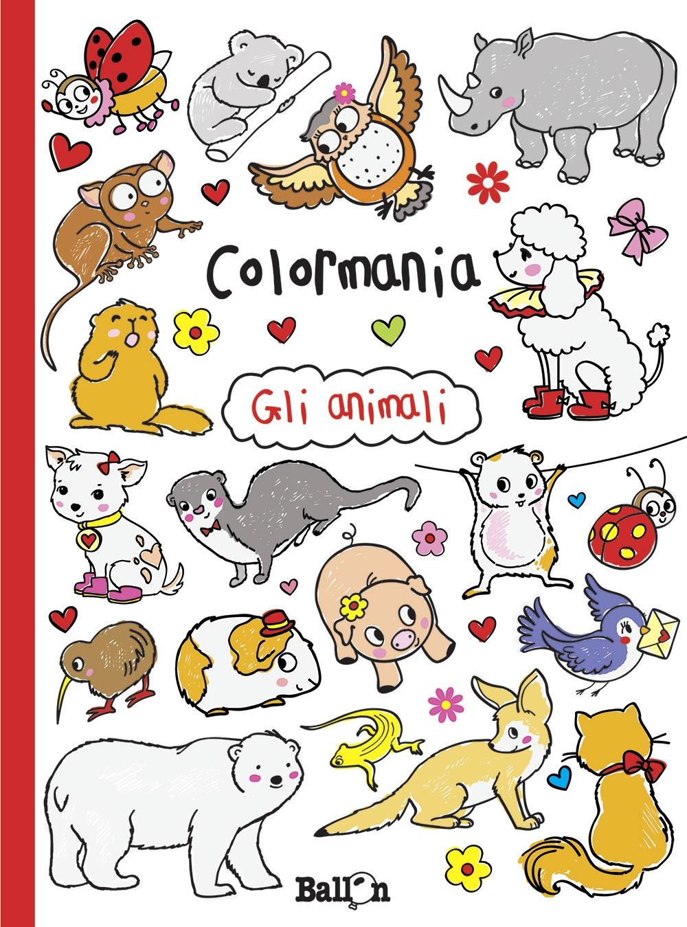 Gli animali. Colormania. Ediz. illustrata