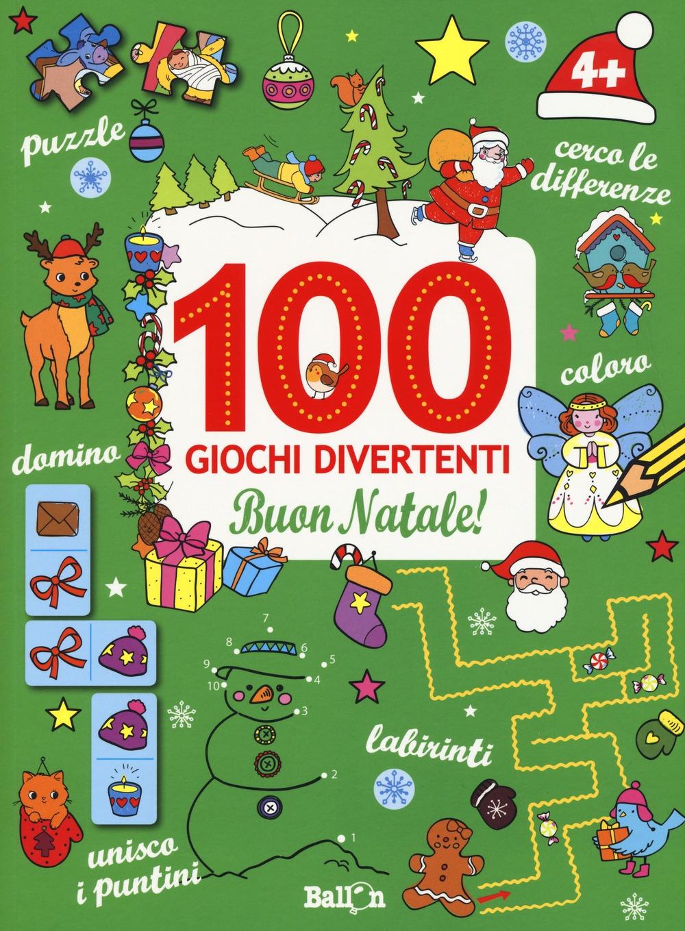 Buon Natale! 100 giochi divertenti. Ediz. a colori