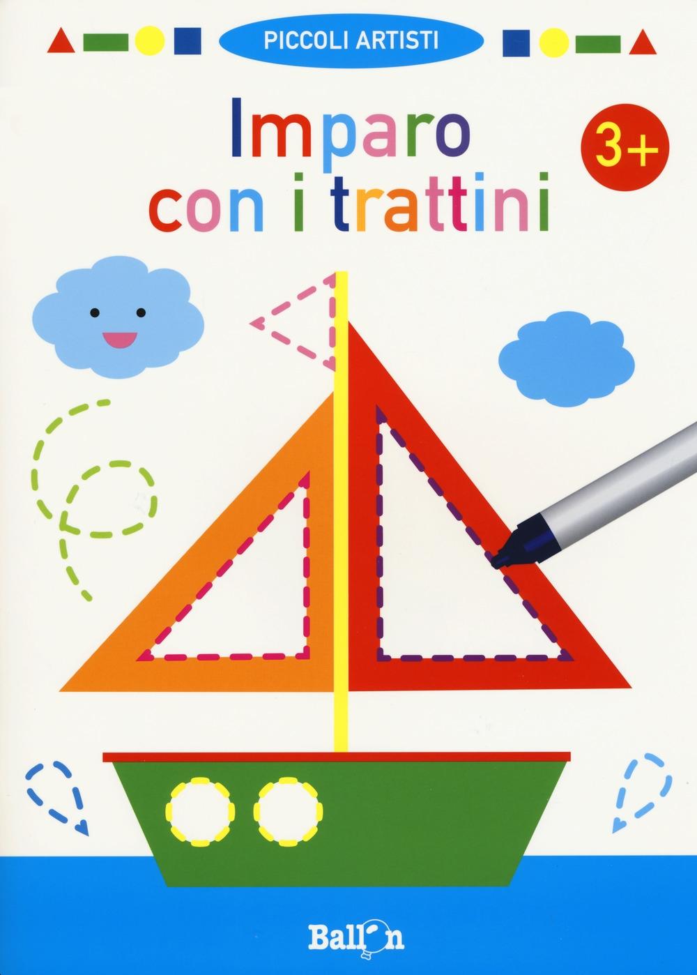 Imparo con i trattini 3+. Piccoli artisti. Ediz. a colori. Con gadget