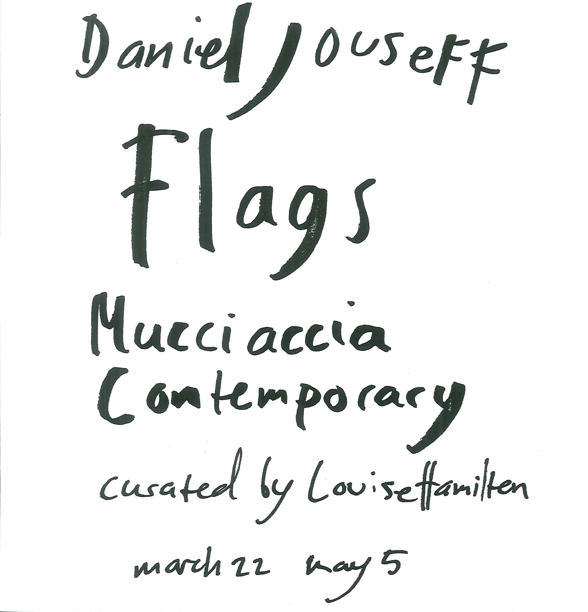 Flag. Mucciaccia contemporary.
