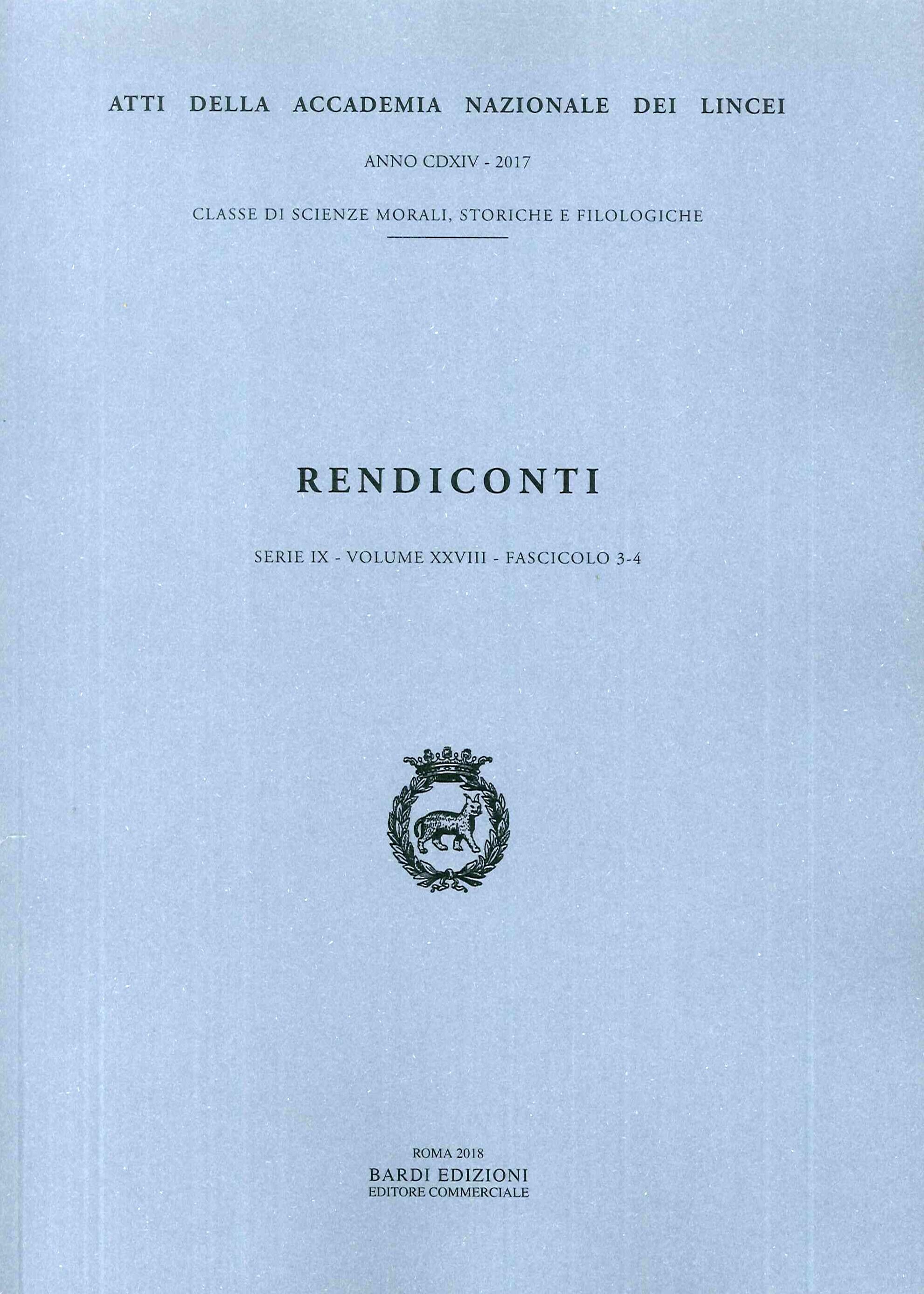 Rendiconti Lincei. Serie IX - Volume XXVIII. Fascicolo 3-4