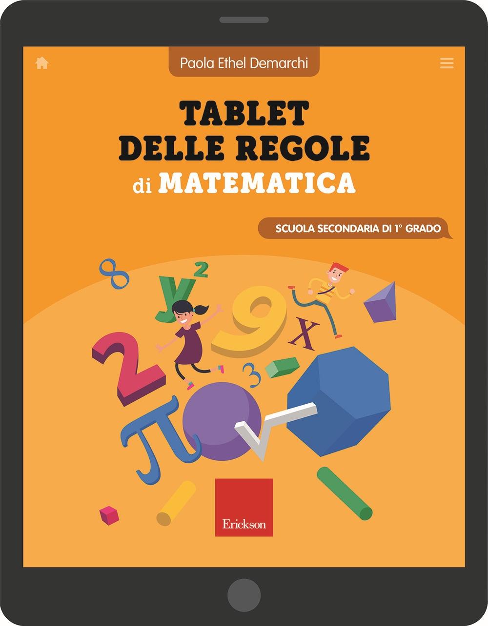 Tablet delle regole di matematica. Scuola secondaria di primo grado