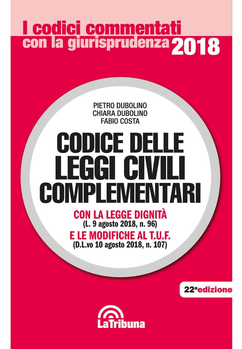 Codice delle leggi civili complementari