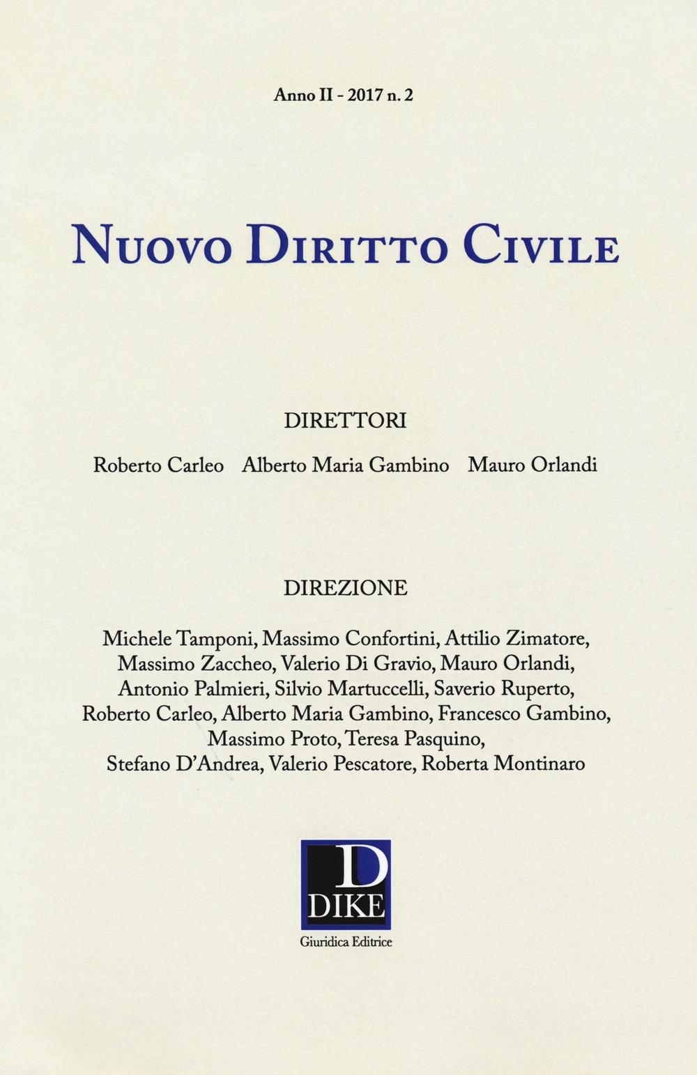 Nuovo diritto civile (2017). Vol. 2