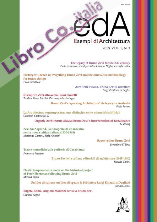 EDA. Esempi di architettura 2018. International journal of architecture and engineering (2018). Vol. 5. N. 1.
