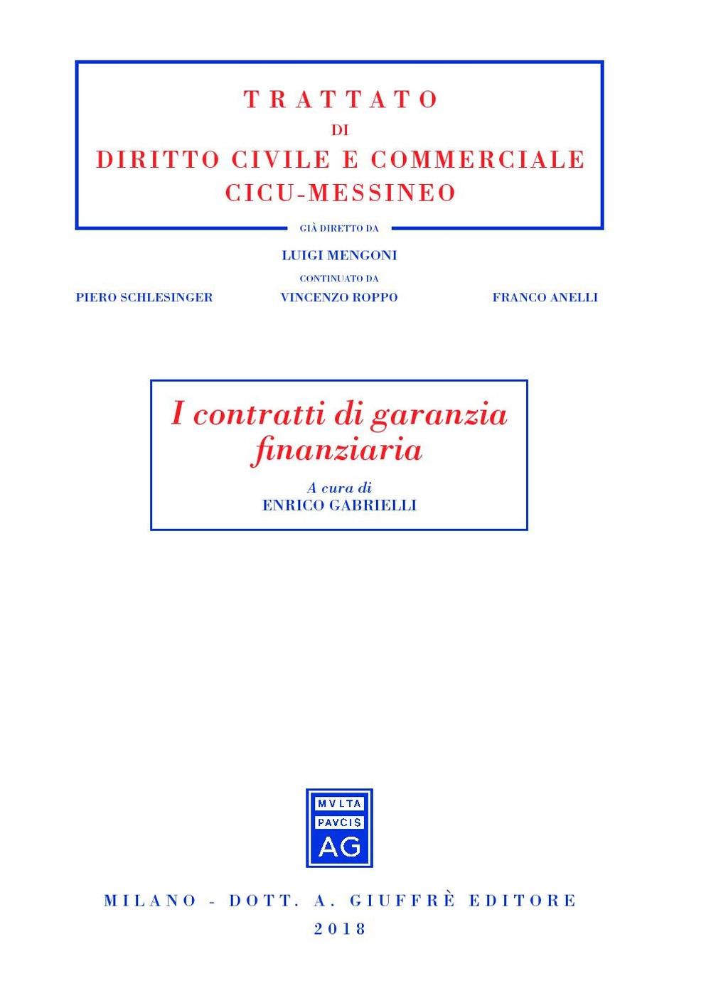 I contratti di garanzia finanziaria