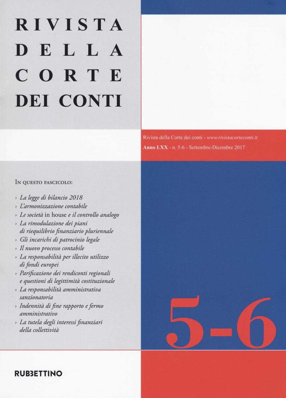 Rivista della Corte dei Conti. Vol. 5-6