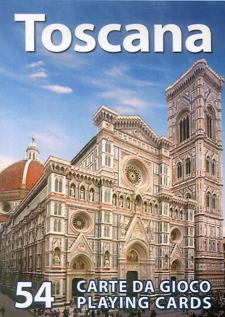 Toscana. 54 Carte Da Gioco. Playng Card. Mazzo Blu