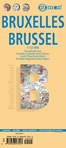 Bruxelles, Brussel. Map 1:12 000
