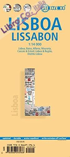 Lisbona. Lisbon. Map 1:14 000