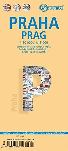 Praha. Prague. Map 1:10 000 / 1:15 000
