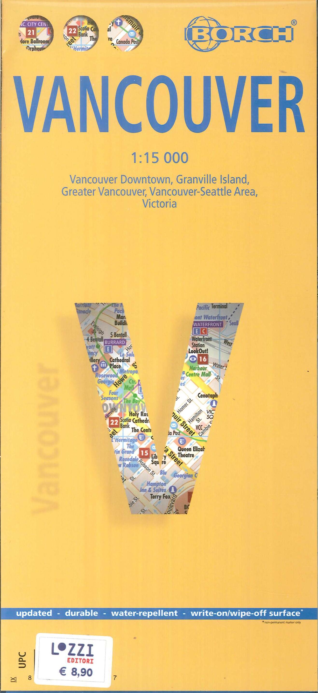 Mappa Borch Vancouver. 1: 15 000