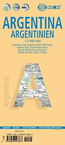 Argentina. Argentinien. Map 1. 3.800.000
