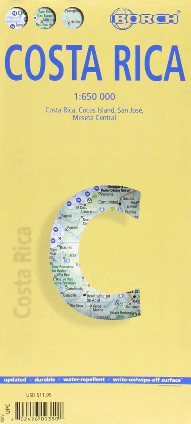 Costa Rica. Map 1:650 000