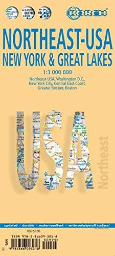 Northeast Usa, New York & Great Lakes. Map 1:3 000 000
