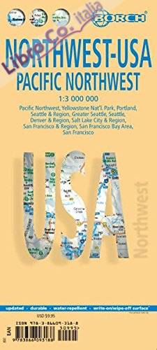 Northwest Usa Pacific Northwest. Map 1:3 000 000