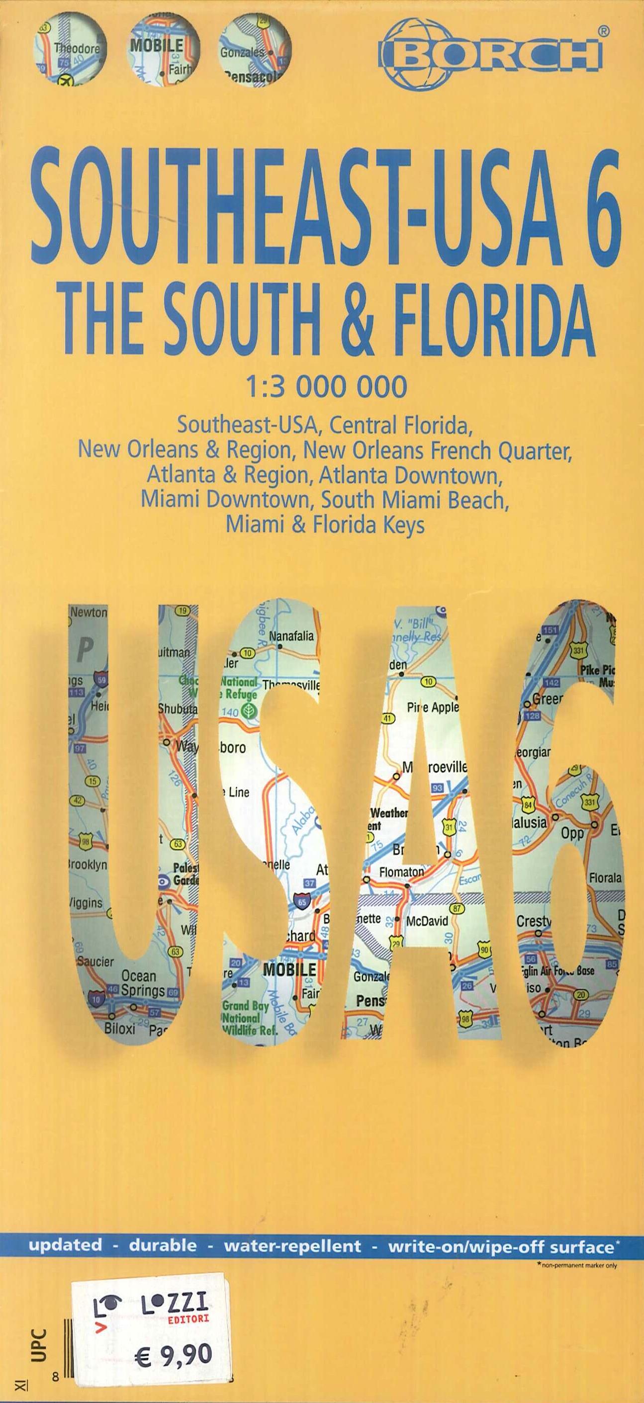 Southeast Usa 6. The South & Florida. 1:3 000 000