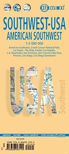 Southwest Usa. American Southwest Map 1:3 000 000