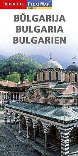 Bulgarija. Bulgaria. Bulgarien. Flexi map 1:800 000