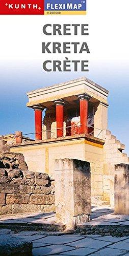 Crete. Kreta. Crète. Flexi map 1:200 000