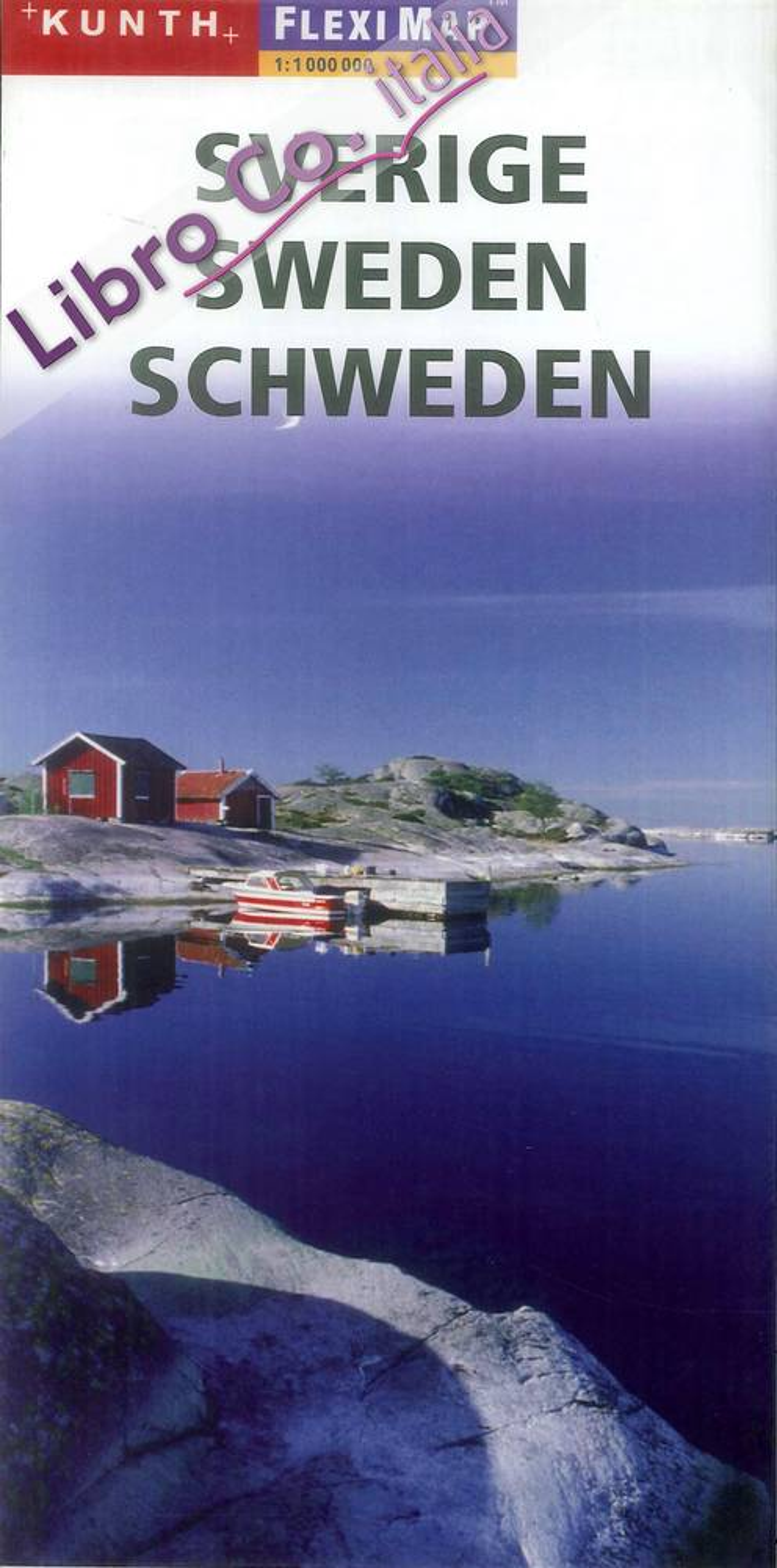 Sverige. Sweden. Schweden. Flexi map 1:1 000 000