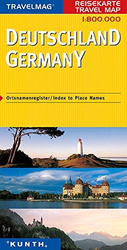 Deutschland. Germany. Travel map 1: 800.000