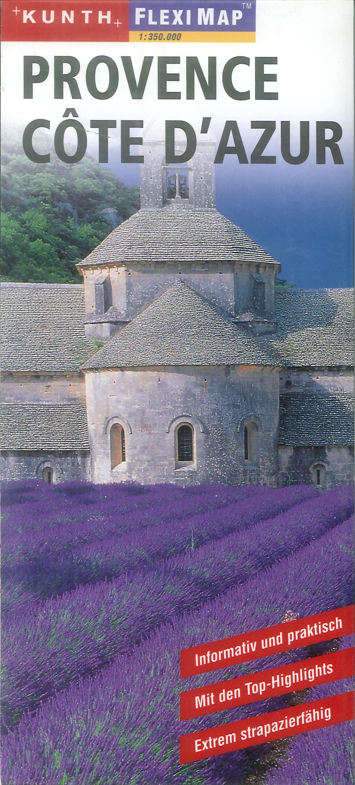 Provence. Cote d'azur. Flexi map. 1:350.000