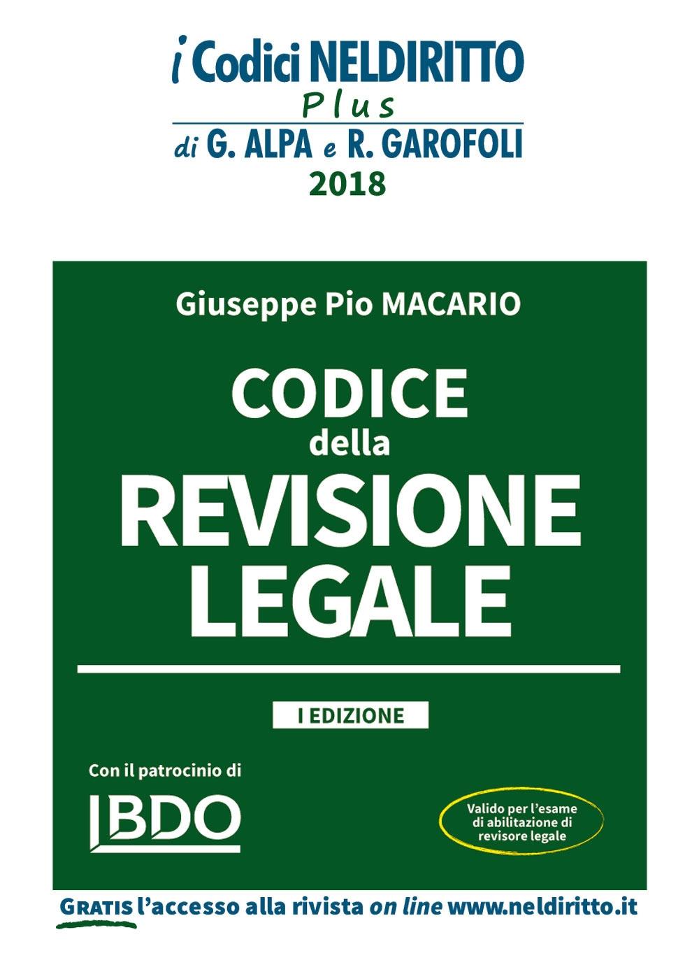 Codice della revisione legale. Con espansione online