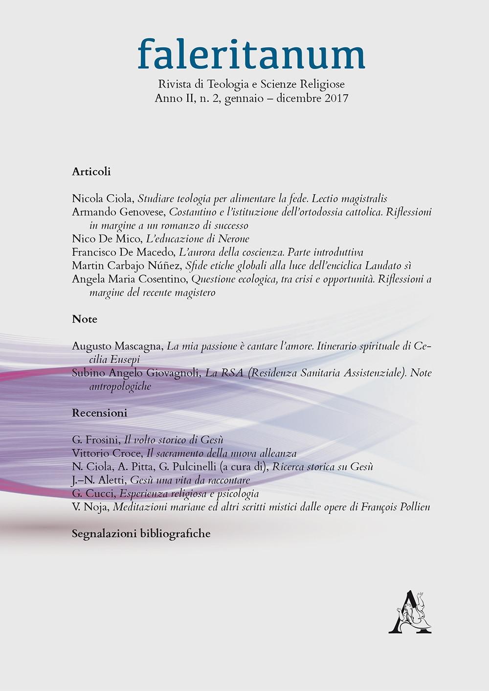 Faleritanum. Rivista di teologia e scienze religiose (2017). Vol. 2